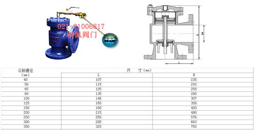 h142x液压水位控制阀是一种自动控制水箱,水塔液面高度的水力控制阀.图片