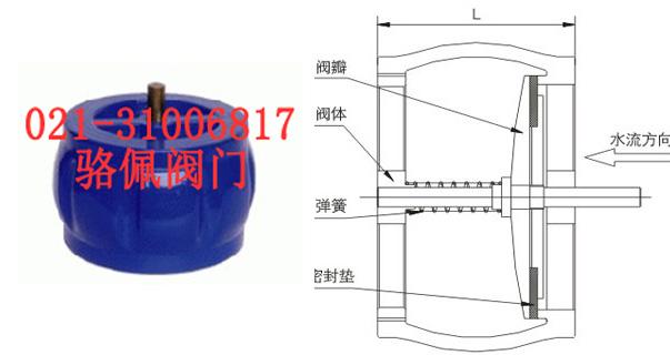 h72x对夹式消声止回阀的规格尺寸图片